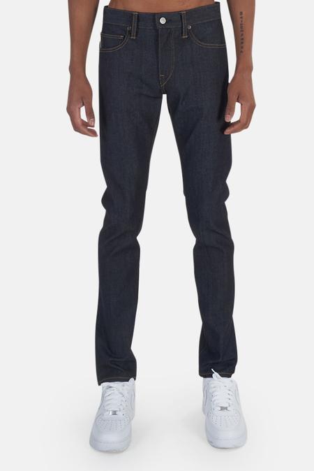 Kato The Needle Skinny 4-Way Raw Pants - Indigo