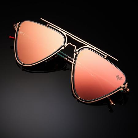 Unisex VYSEN Eyewear Dalia D-4 eyewear - Rose/Gold Shiny