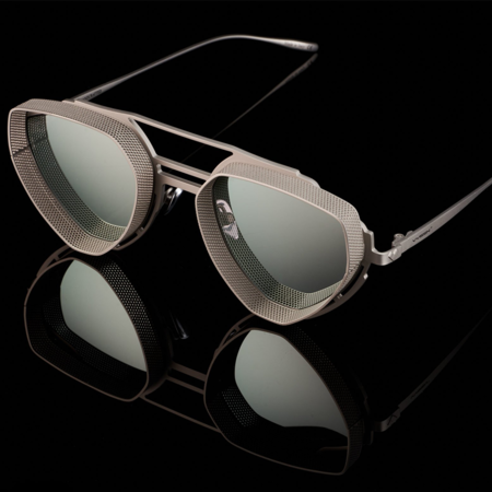 unisex VYSEN Eyewear Enzo EZ-3 sunglasses - Silver Matte