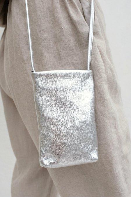 BAGGU Metallic Cellphone Purse - Silver
