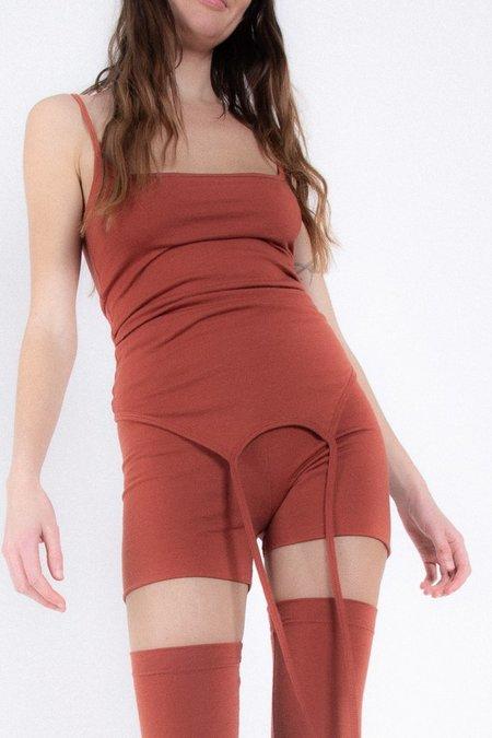 Rachel Mills Kate Bike Shorts - Brick Merino