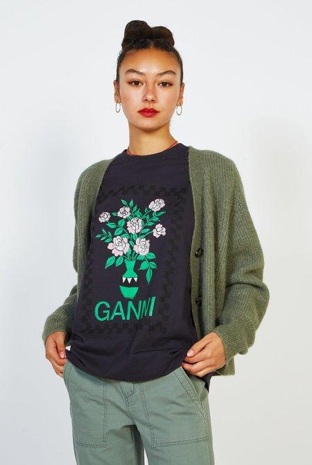 Ganni Basic Cotton Jersey Tshirt - Phantom