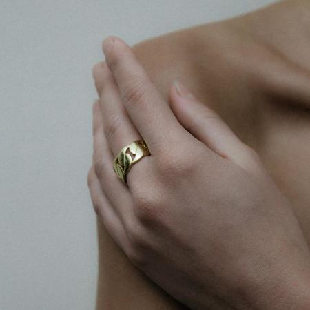Jonesy Wood Simone Ring - 18k gold-plated