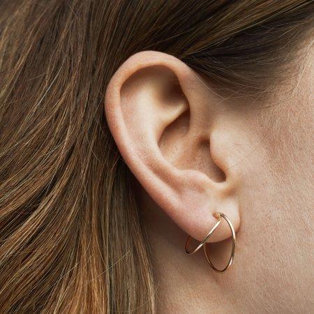 Skomer Studio Everlasting hoop earrings - Gold
