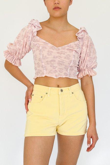 Vintage Guess Denim Shorts - yellow