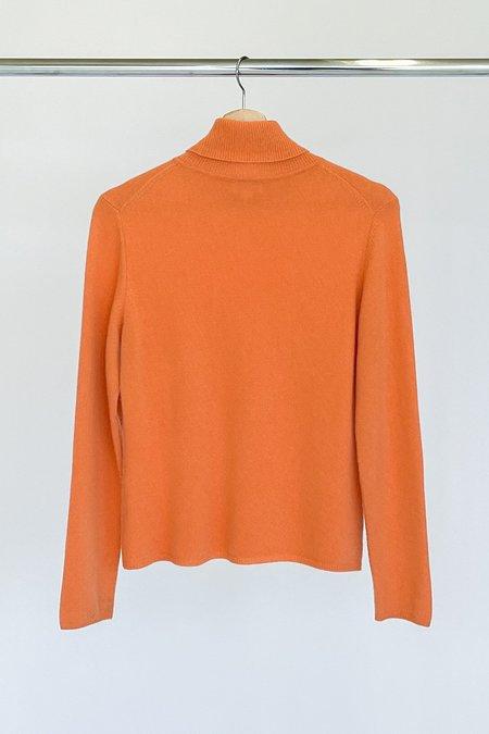 Vintage Cashmere Turtleneck Sweater - melon