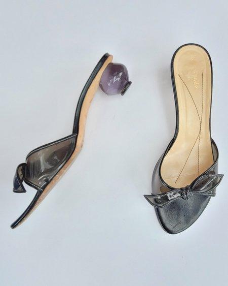 Vintage Kate Spade Lucite Heel Slides