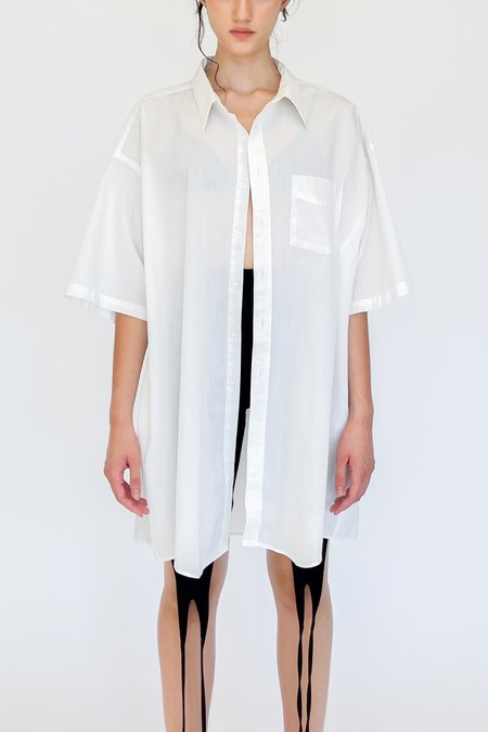 Vintage Short Sleeve Relaxed Shirt - White