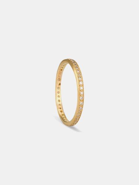 satomi kawakita white diamond eternity band ring - Gold