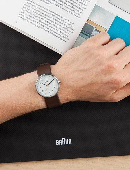 Braun BN0021 Watch - Brown/White Face