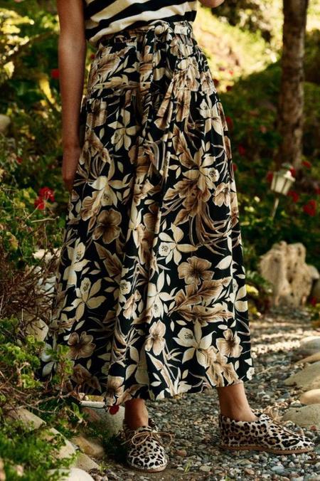 The Great. Long Highland Skirt - Vintage Hawaiian Floral