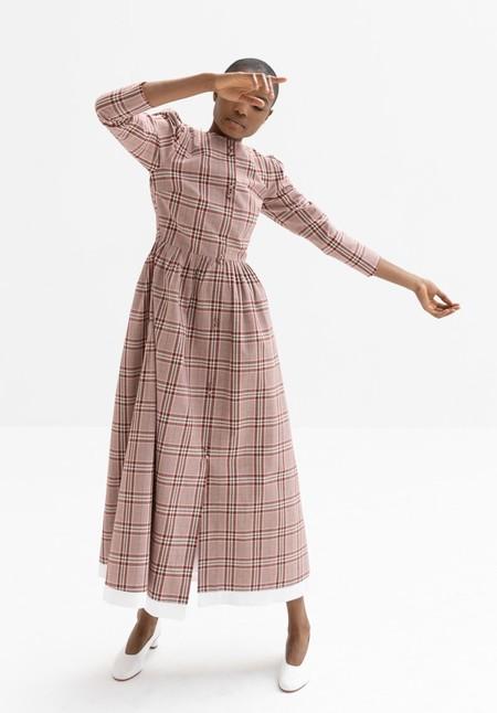 REJINA PYO QUINN DRESS - CHECK RED