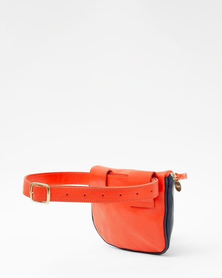 Clare V. Fanny Pack - Navy/Blood Orange