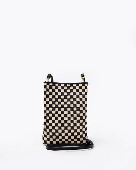 Clare V. Poche - Black/Cream Checker