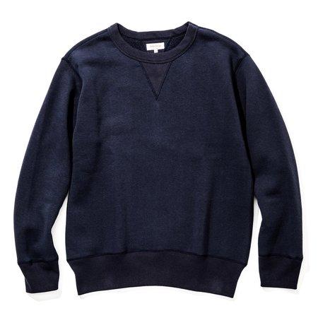 The Real Mccoy's Loop Wheel Sweatshirt - Navy
