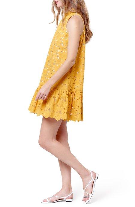 Corey Lynn Calter Claude Babydoll Dress - Yellow Eyelet