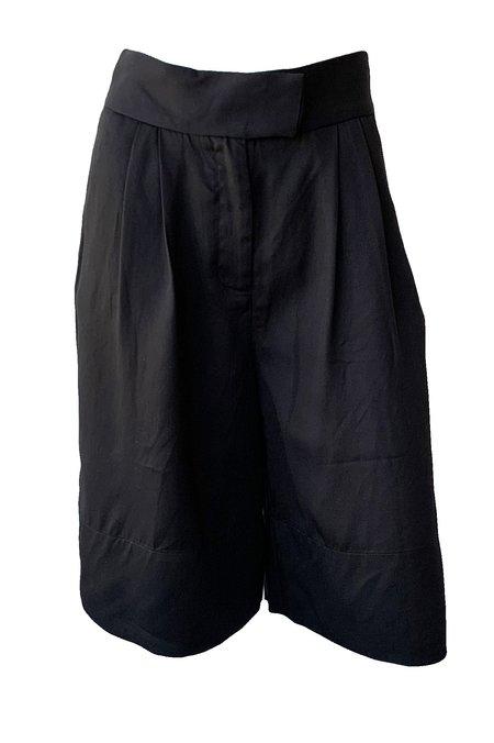 St. Agni Ode Tencel Shorts - Black