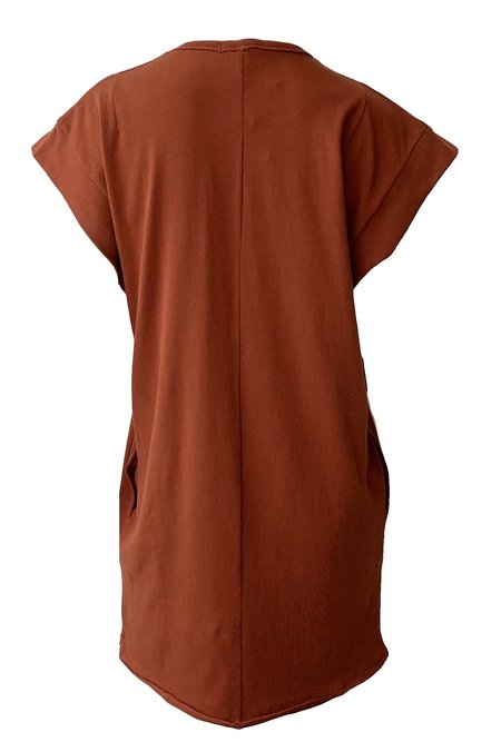 Rag & Bone Ryder Muscle Mini Dress - Paprika