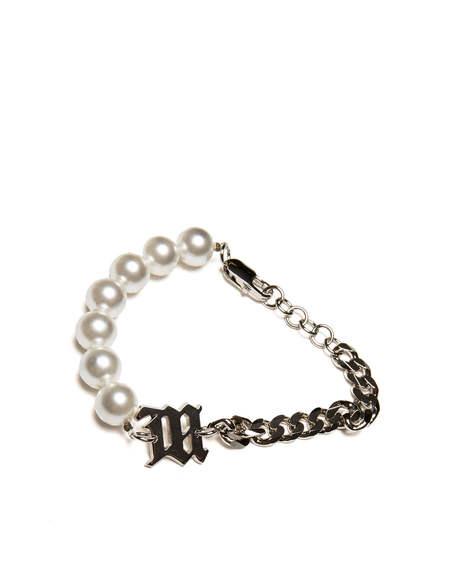 MISBHV logo Bracelet - white/silver