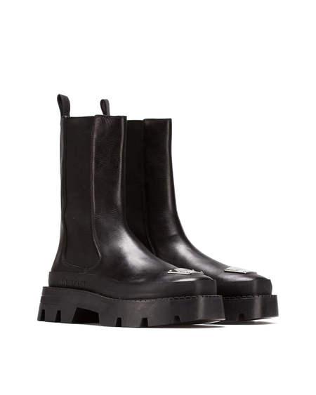MISBHV Logo Plate Boots - Black