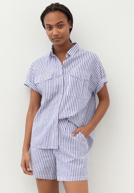 Alex Mill Boy Short - Blue Seersucker