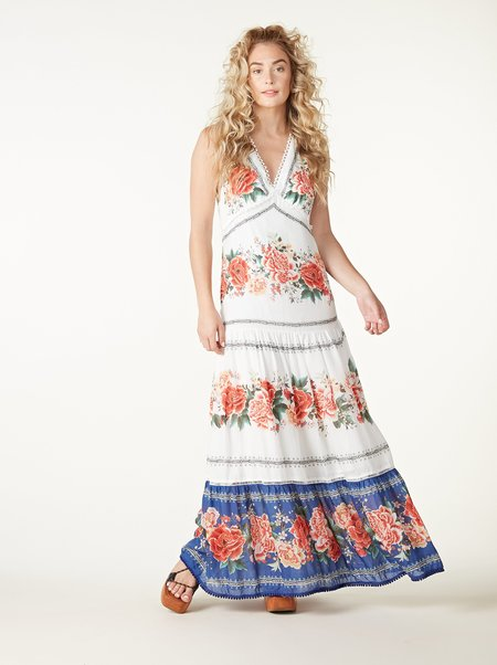 Farm Rio Manuela Floral Maxi Dress - Multi