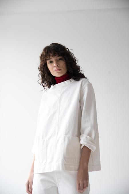 Caron Callahan Pierre Smock - White Denim