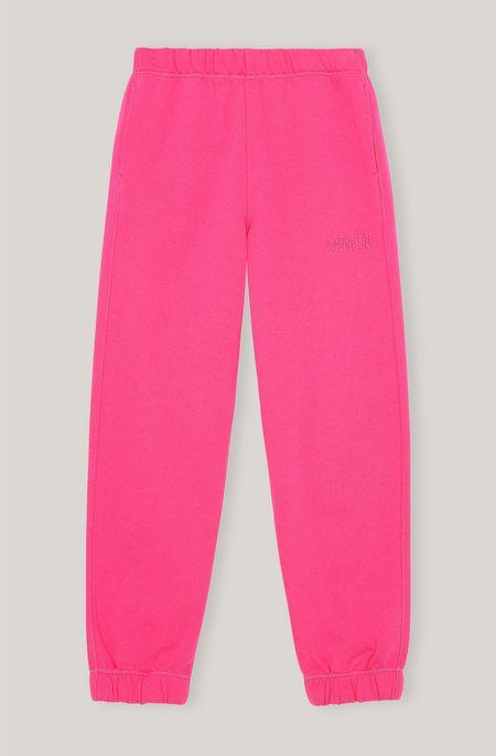 Ganni Software Isoli Sweatpants - Shocking Pink
