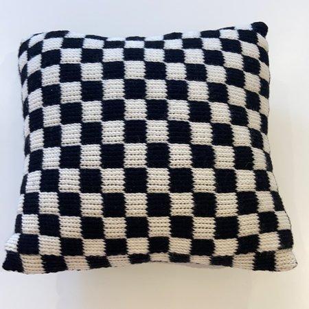 ouimillie Nina Cherie Small Check Cushion - Black