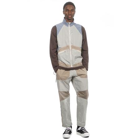 Arnar Mār Jōnsson Contrast Panelled Track Trouser - Stone/Khaki