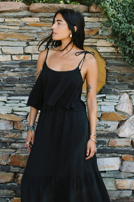 Rachel Pally Linen Kimila Top - black