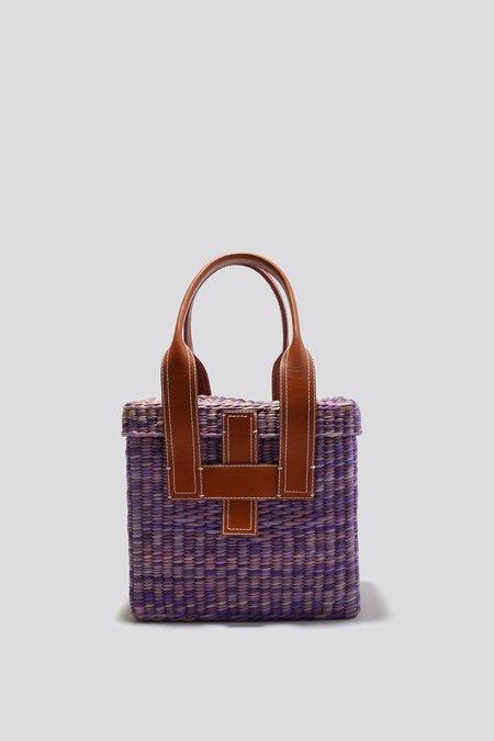 Rachel Comey Mini Straw Picnic Tote - Purple