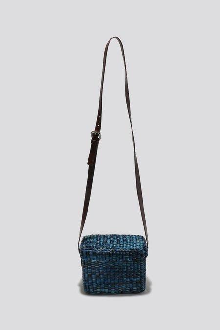 Rachel Comey Straw Lunchbox -  Blue