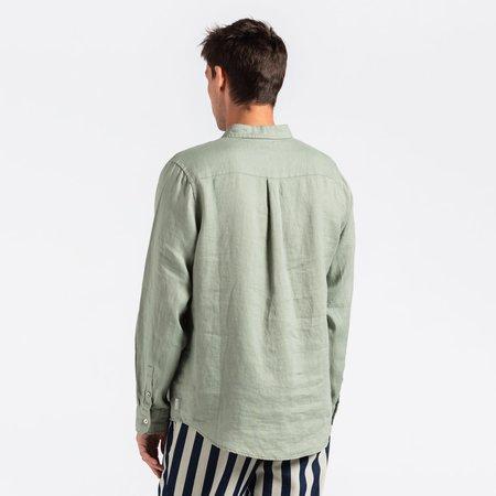 Banks Journal Hastings Linen L/S Woven Shirt - Leaf