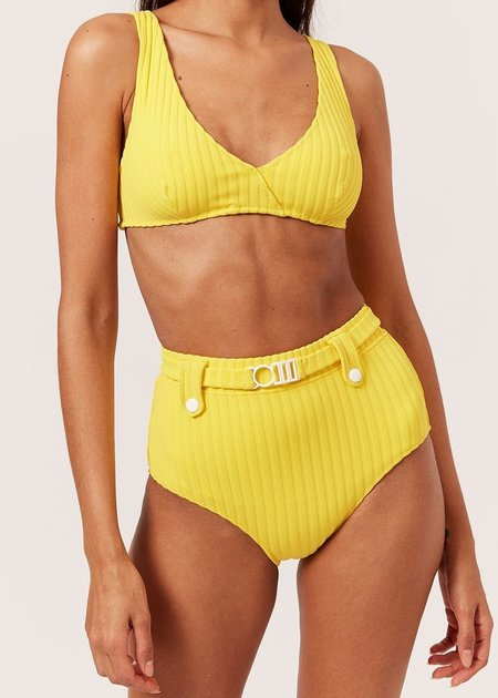 Solid and Striped Annie Solid Rib Top - Lemon Zest