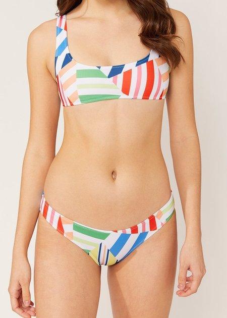 Solid and Striped Elle Top - Broken Stripes Multi