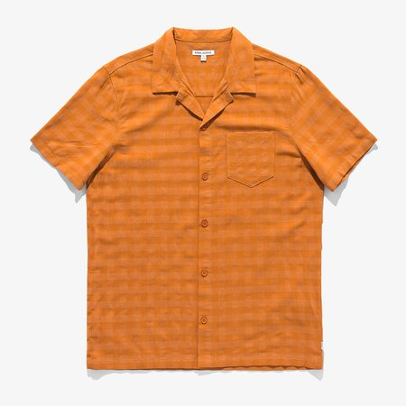 Banks Journal Mammoth S/S Woven Shirt - orange
