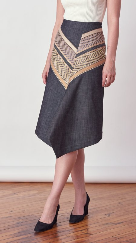 Dorothee Schumacher Perfect Match Skirt - Beige/Black Mix