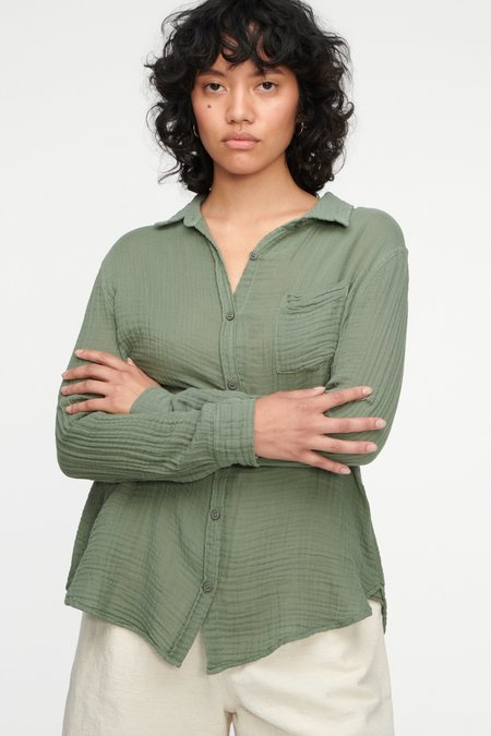 Lacausa Luxe Nash Button Up - Seaweed