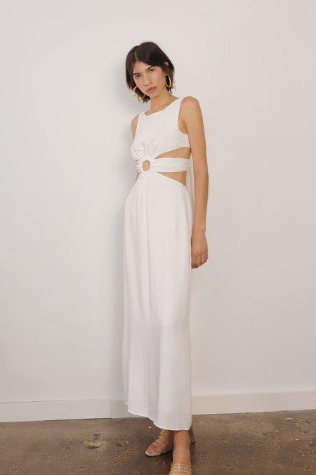 4Sienna O-ring Maxi Dress - White