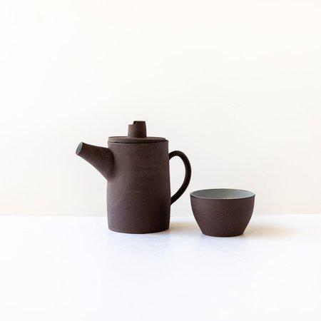 Valérie Pelletier Stoneware Teapot - Chocolate Brown