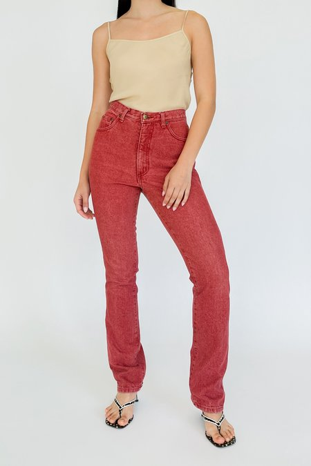 Vintage Guess Red High Rise Denim - red