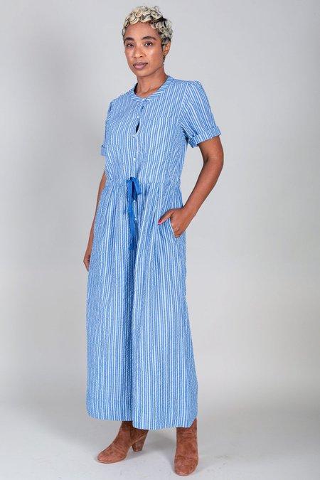 Apiece Apart Ensanada Drawstring Jumpsuit - Seersucker Stripe