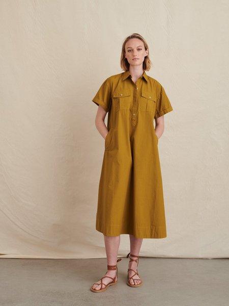 Alex Mill Safari Paper Cotton  Dress - Golden Olive