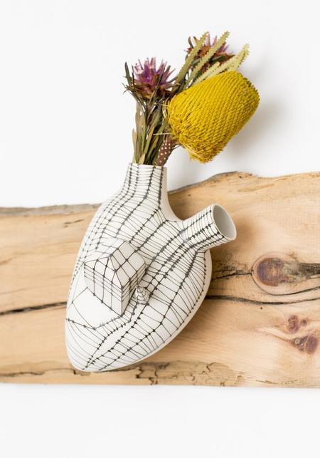 Studio ElicaHouse of Love Porcelain Anatomical Heart Wall Vase