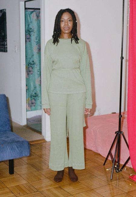 Baserange Shaw Long Sleeve Contrast - Ero Green