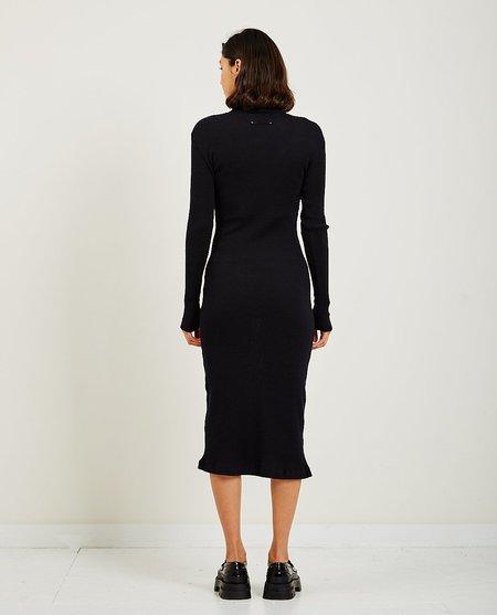 Maison Margiela Ribbed Long Sleeve High Neck - Black