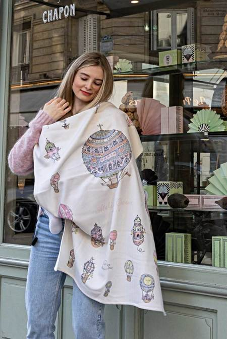 Kids Atelier Choux Cashmere Blanket - Hot Air Balloons