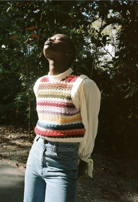Sea NY Ziggy Multicolor Crochet Vest - multi