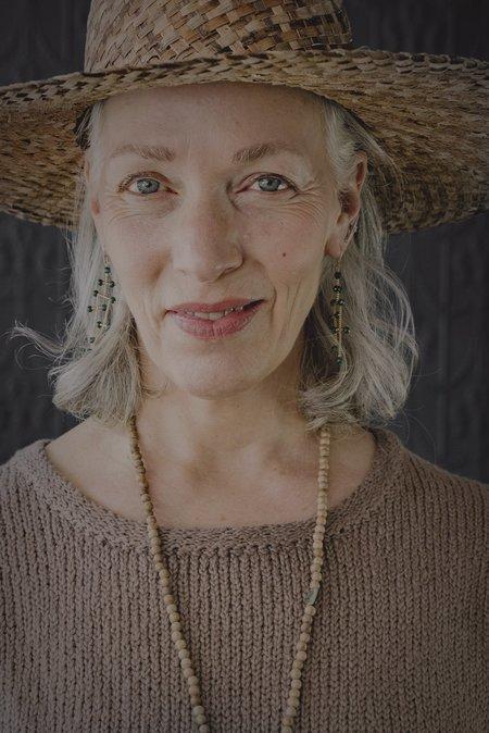 Estyn Hulbert La Donna Earrings - Malachite